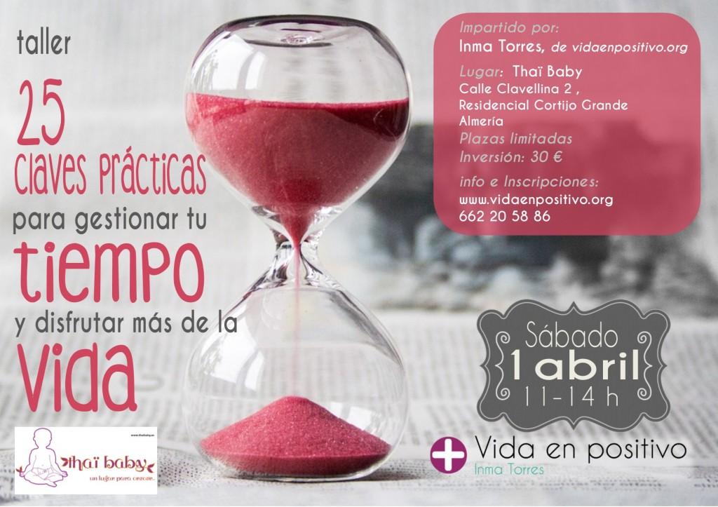 cartel taller gestion del tiempo almeria 2