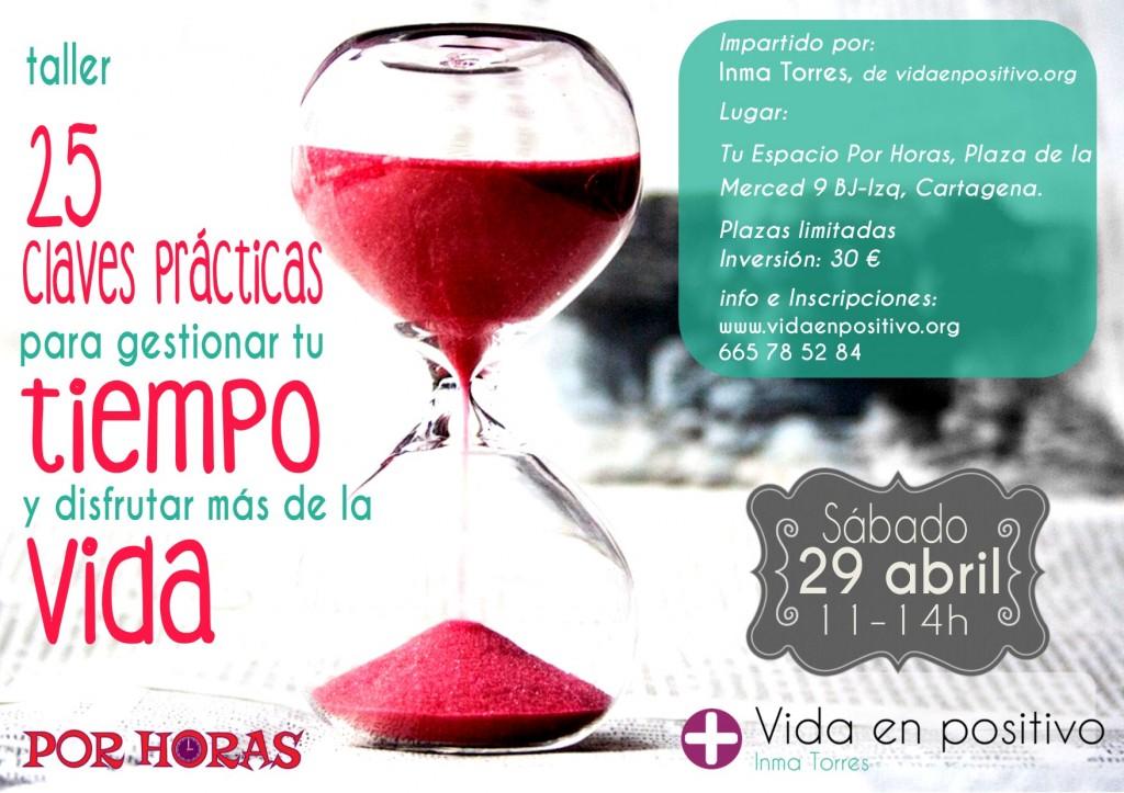 cartel taller gestion del tiempo cartagena