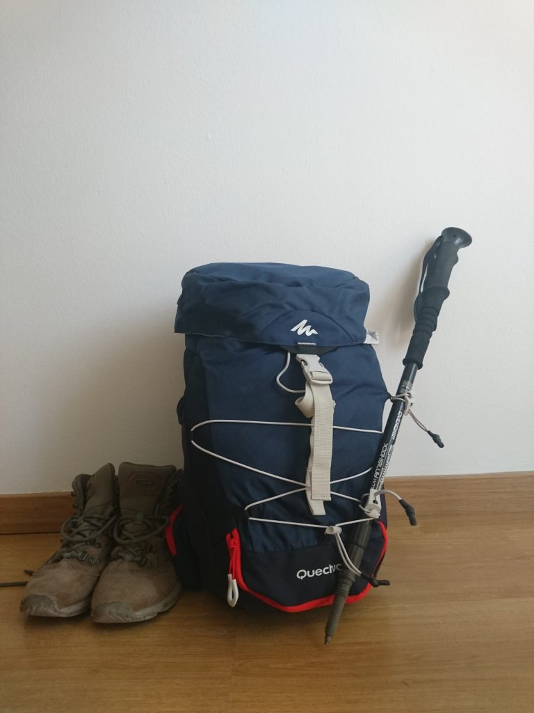 mochila para el camino de santiago